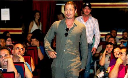 Brad Pitt vino a saludarnos al pase previo de Guerra Mundial Z