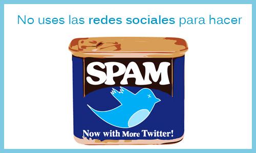 No uses las redes sociales para hacer spam